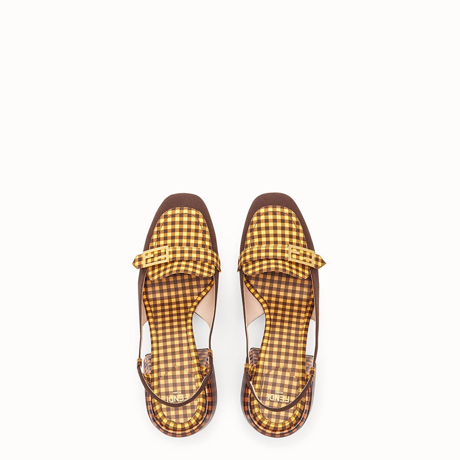 FENDI SLINGBACK - Brown cotton Promenade - view 4 detail