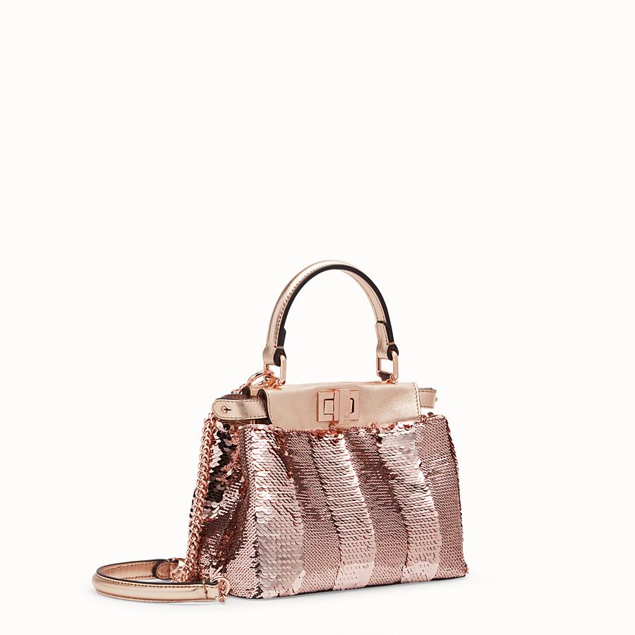 FENDI PEEKABOO ICONIC XS - Pink leather mini-bag - view 2 detail