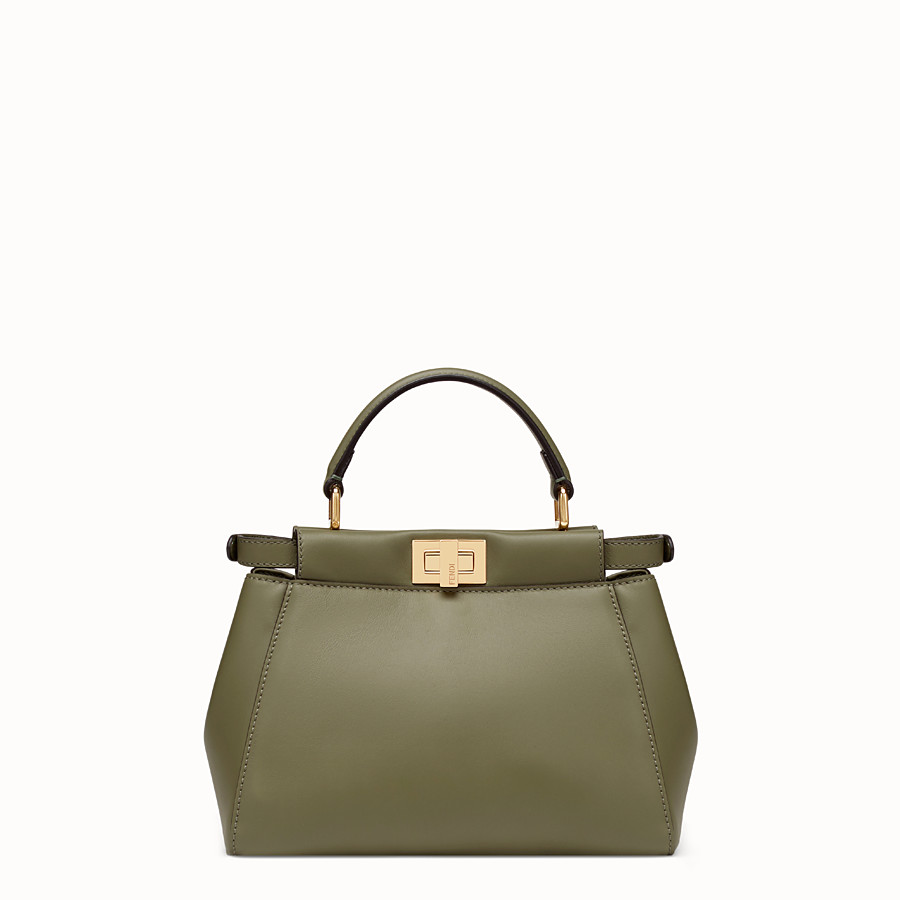 FENDI PEEKABOO MINI POCKET - Green leather bag - view 3 detail