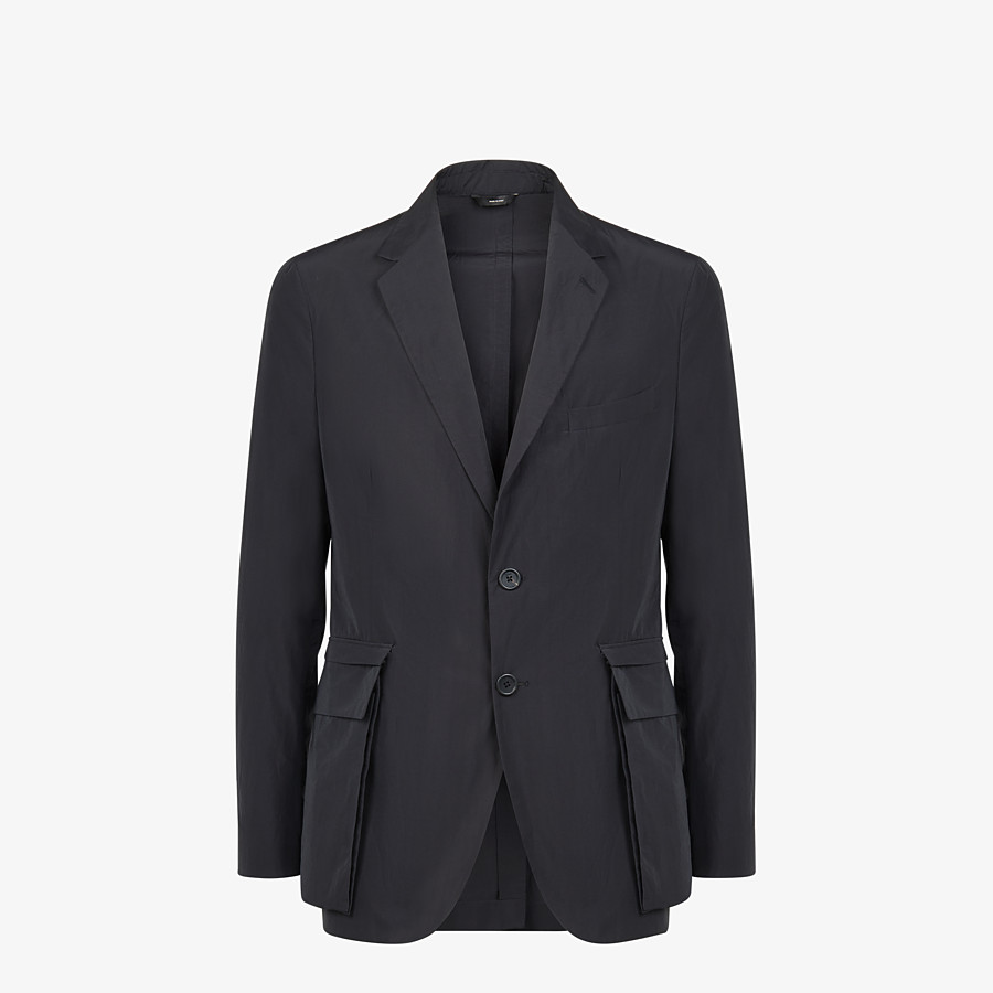 FENDI JACKET - Blazer in black nylon and cotton - view 1 detail