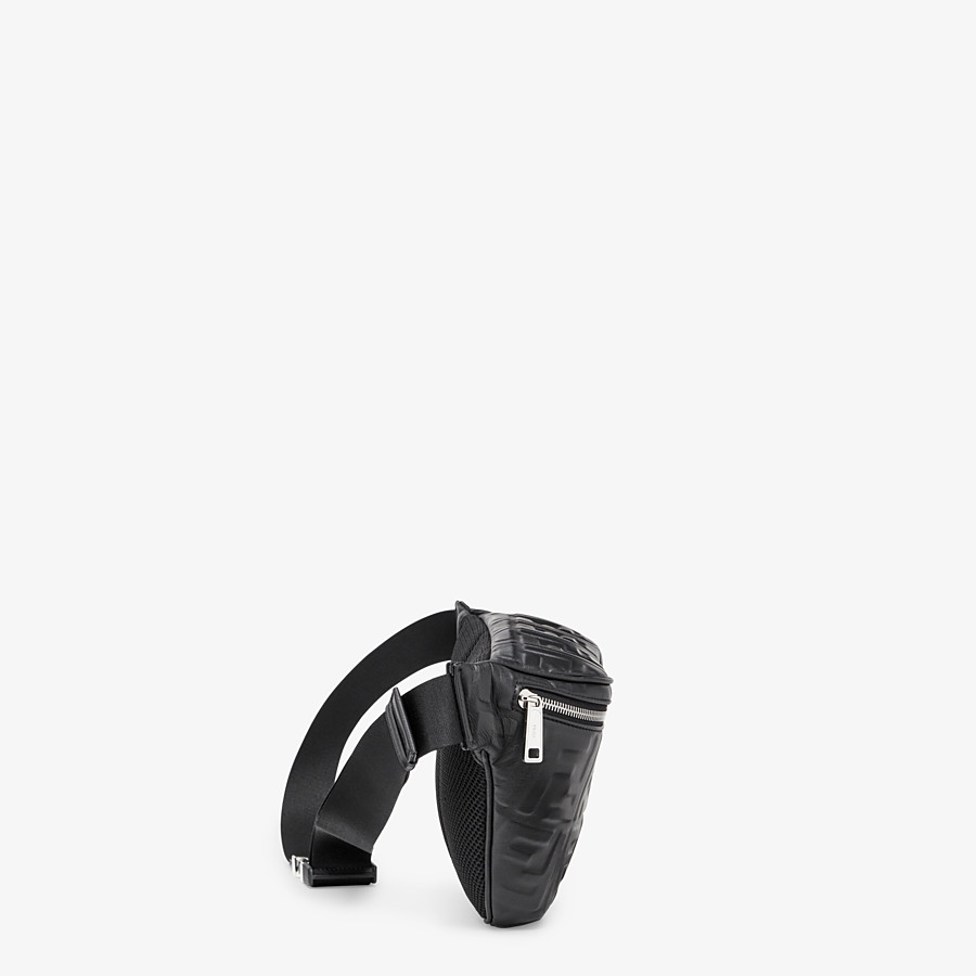 FENDI BELT BAG - Black nappa leather belt bag - view 2 detail