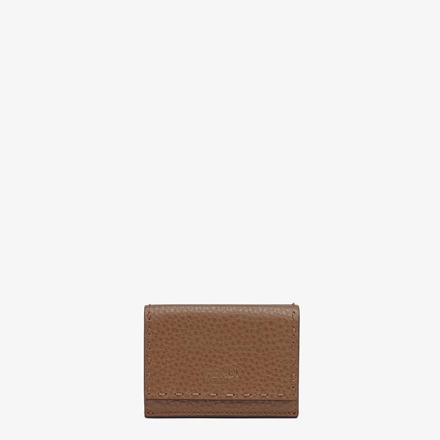 FENDI マイクロ 三つ折り財布 - ブラウンレザー 財布 - view 1 detail