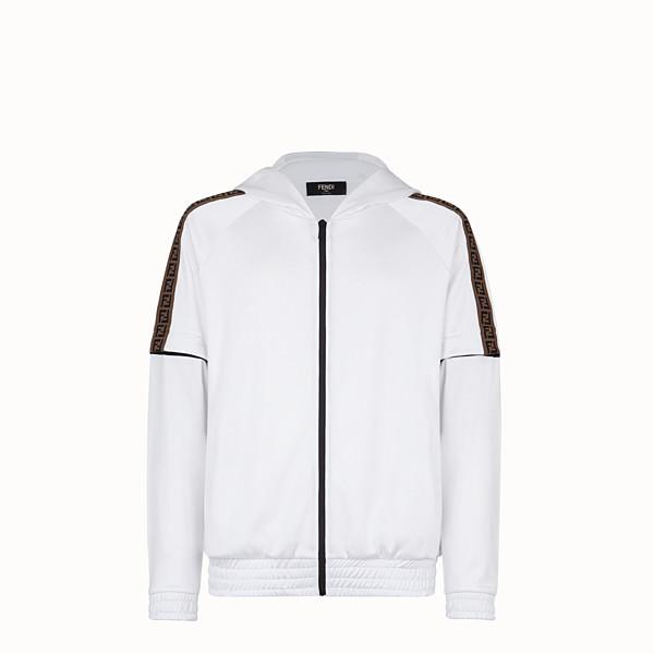 FENDI  - White tech fabric sweatshirt - view 1 small thumbnail