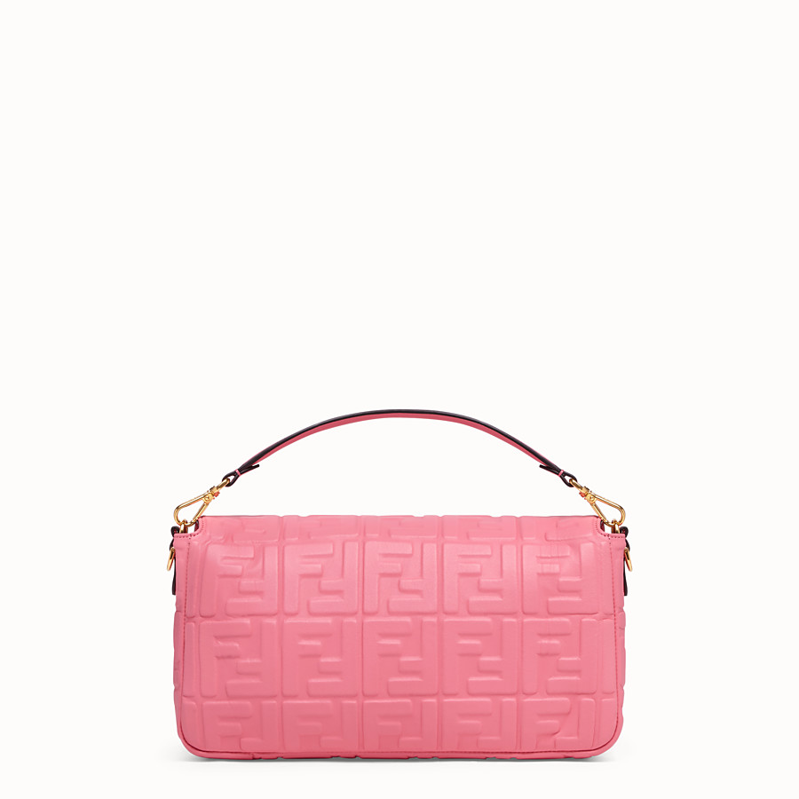 FENDI BAGUETTE GROSS - Tasche aus Leder in Rosa - view 4 detail