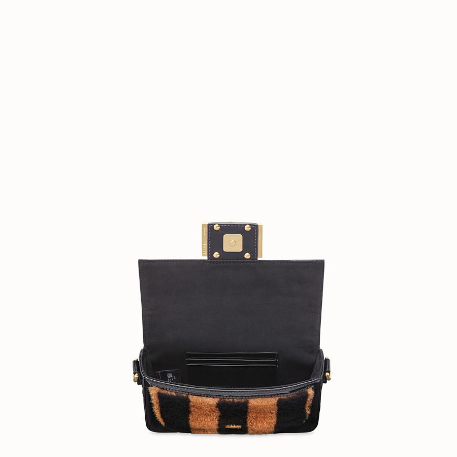 FENDI MINI BAGUETTE - Multicolour sheepskin and vinyl minibag - view 5 detail