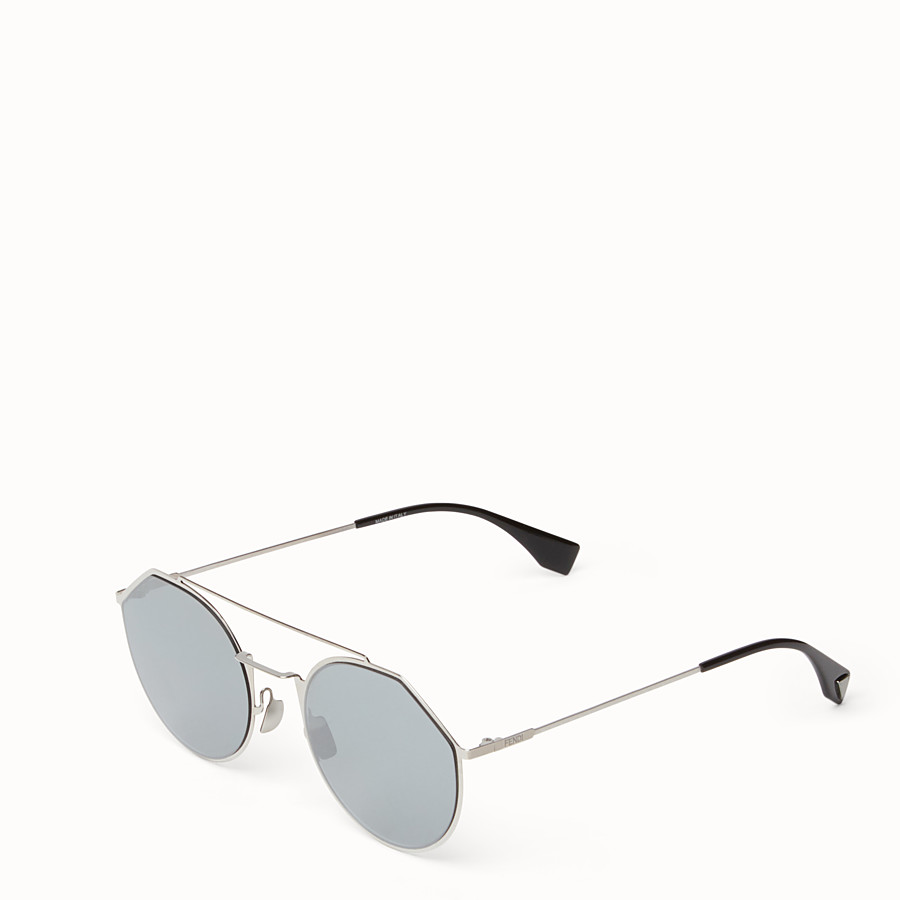 FENDI EYELINE - Ruthenium sunglasses - view 2 detail
