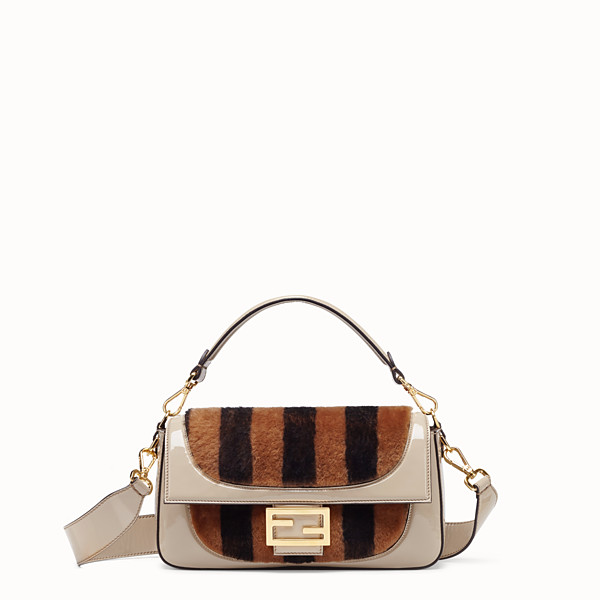 FENDI BAGUETTE - Multicolor, patent leather and sheepskin bag - view 1 small thumbnail