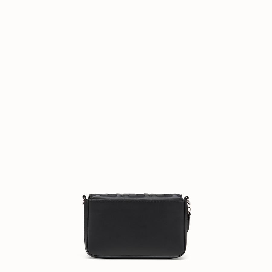 FENDI FLAP BAG - Black nappa leather bag - view 4 detail
