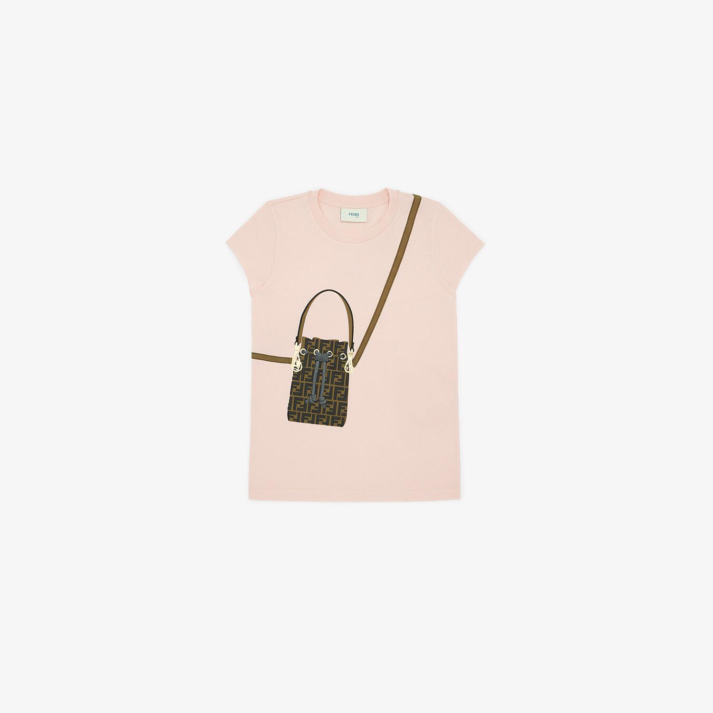 FENDI T-SHIRT - Jersey junior girl T-shirt - view 1 detail