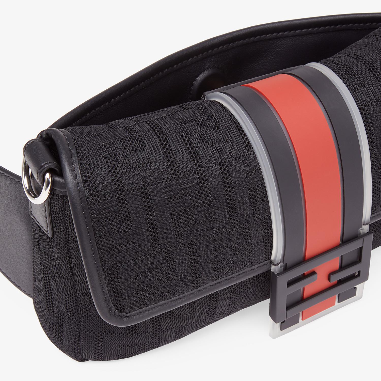 FENDI BAGUETTE - Black tech fabric bag - view 6 detail