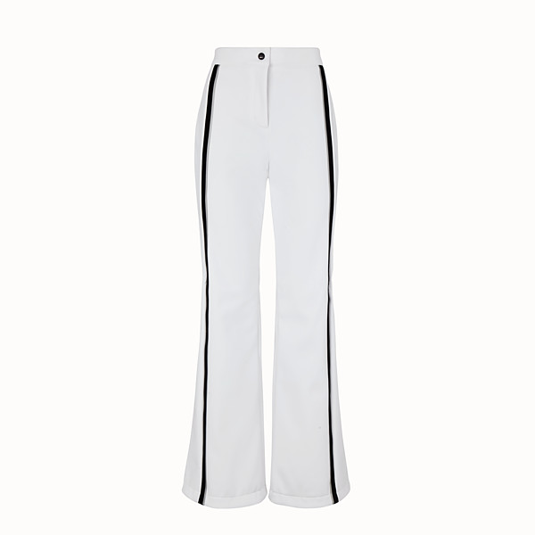 FENDI SKI TROUSERS - White tech fabric trousers - view 1 small thumbnail
