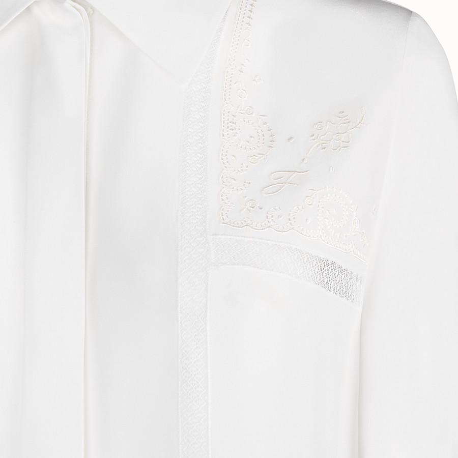 FENDI SHIRT - White crêpe de Chine shirt - view 3 detail