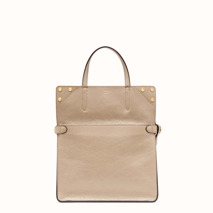 FENDI FENDI FLIP MEDIUM - Beige leather bag - view 3 detail