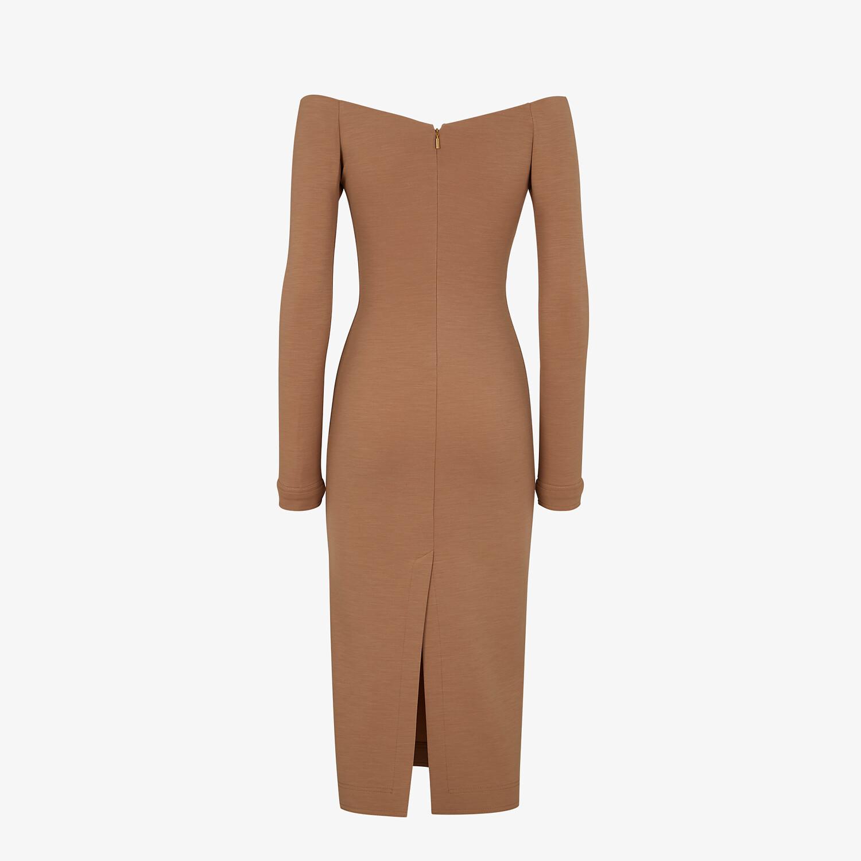 FENDI DRESS - Brown jersey dress - view 2 detail