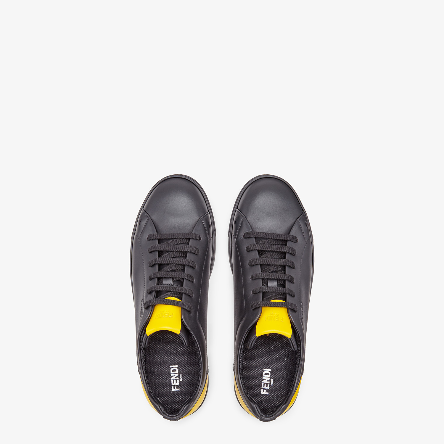 FENDI SNEAKER - Low-Top-Sneaker aus Leder in Schwarz - view 4 detail