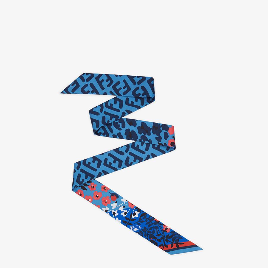 FENDI WRAPPY - Blue silk bandeau - view 1 detail