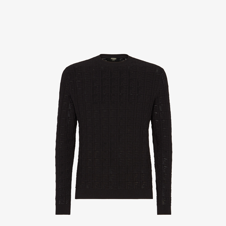 FENDI PULLOVER - Black cotton jumper - view 1 detail