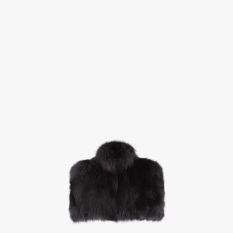 FENDI CAPE - Black fur cape - view 1 detail