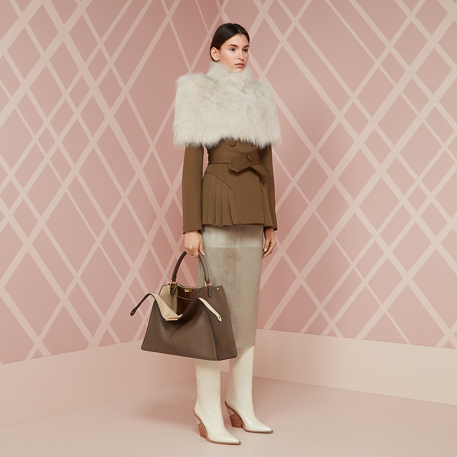 FENDI CAPE - White fur cape - view 4 detail