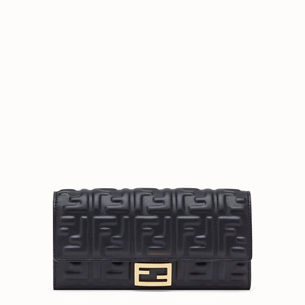 FENDI CONTINENTAL - Black nappa leather wallet - view 1 small thumbnail
