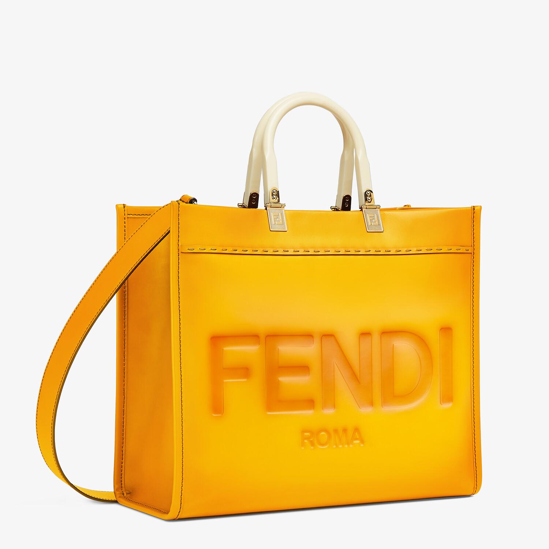 FENDI FENDI SUNSHINE MEDIUM - Orange leather shopper - view 2 detail