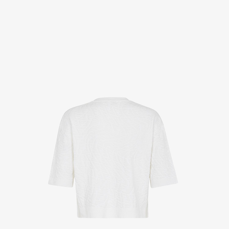 FENDI JUMPER - White cotton jumper - view 2 detail