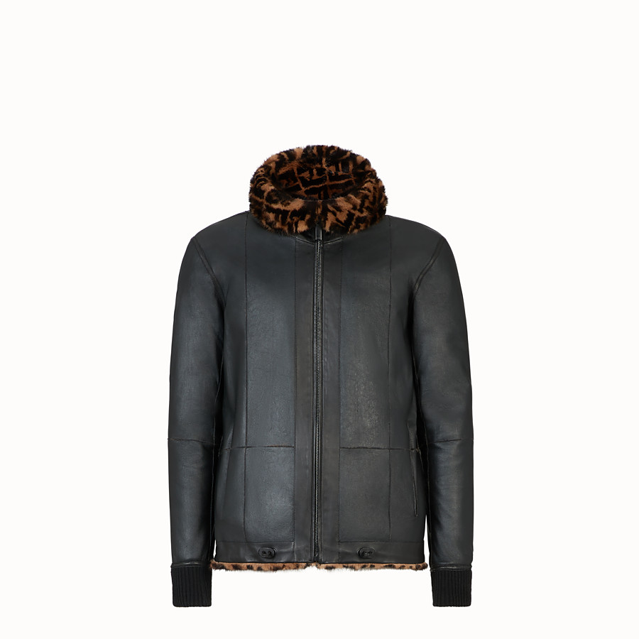 FENDI BLOUSON JACKET - Multicolour mink jacket - view 4 detail