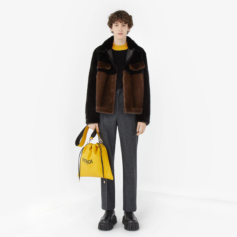 FENDI BLOUSON JACKET - Brown mink jacket - view 4 detail