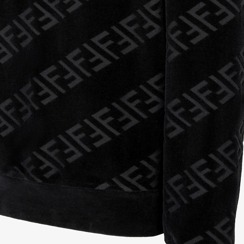 FENDI SWEATSHIRT - Black velvet sweatshirt - view 3 detail