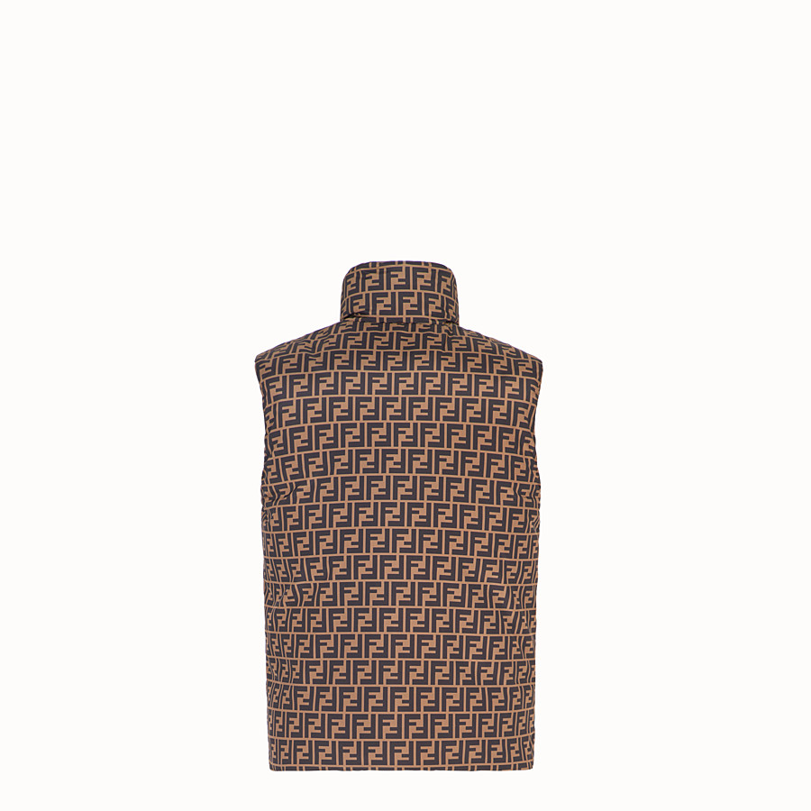 FENDI GILET - Brown nylon gilet - view 2 detail