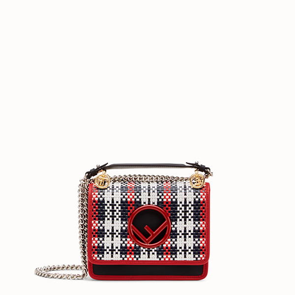FENDI KAN I LOGO SMALL - Black leather mini-bag - view 1 small thumbnail