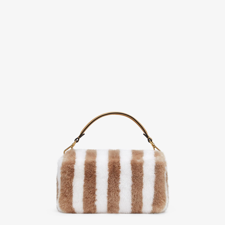 FENDI BAGUETTE - White mink bag - view 3 detail