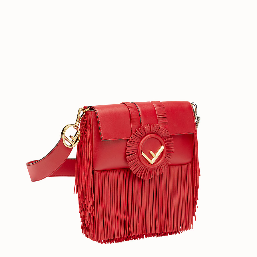 FENDI BAGUETTE - Red nappa bag - view 2 detail