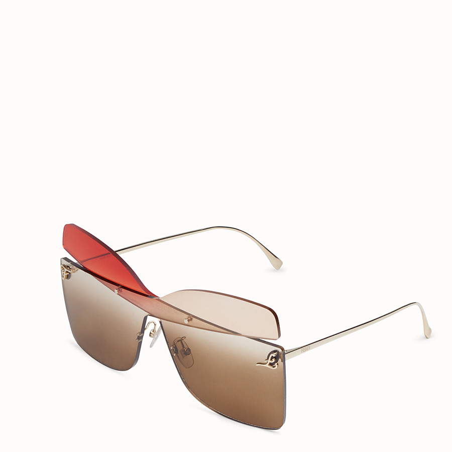 FENDI KARLIGRAPHY - Golden, red, pink-coloured sunglasses - view 2 detail