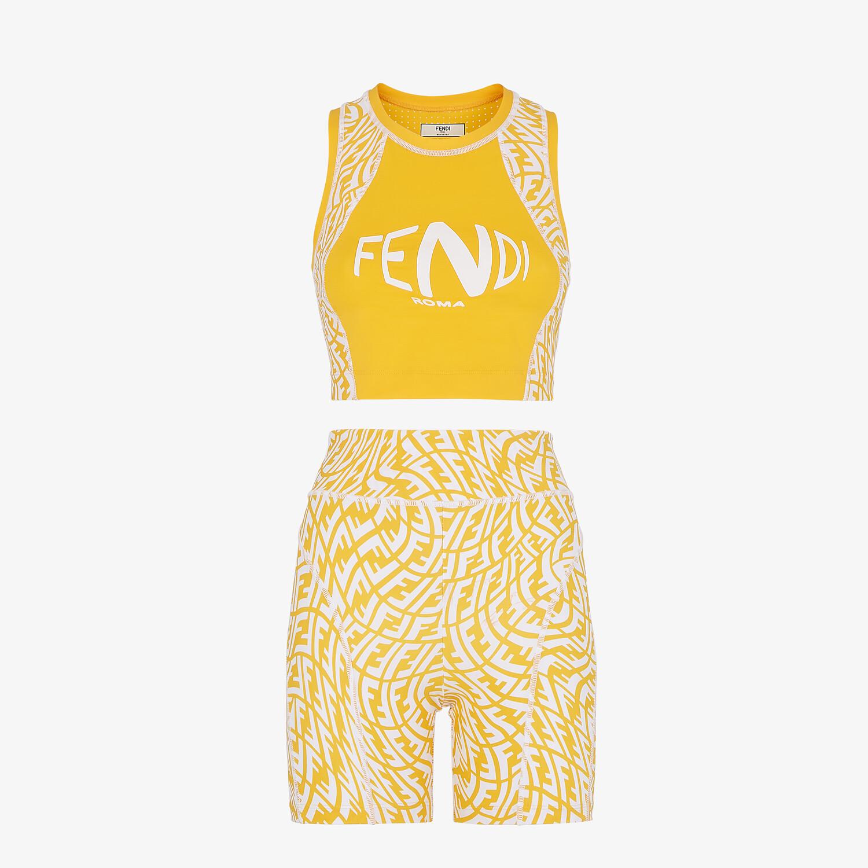 FENDI FITNESS SET - Fitness set in Lycra® gialla - vista 1 dettaglio