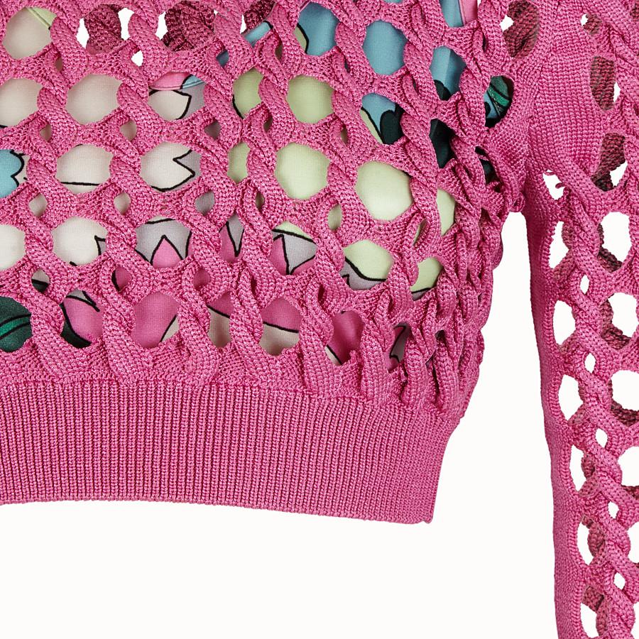 FENDI JUMPER - Fuchsia knit pullover - view 3 detail