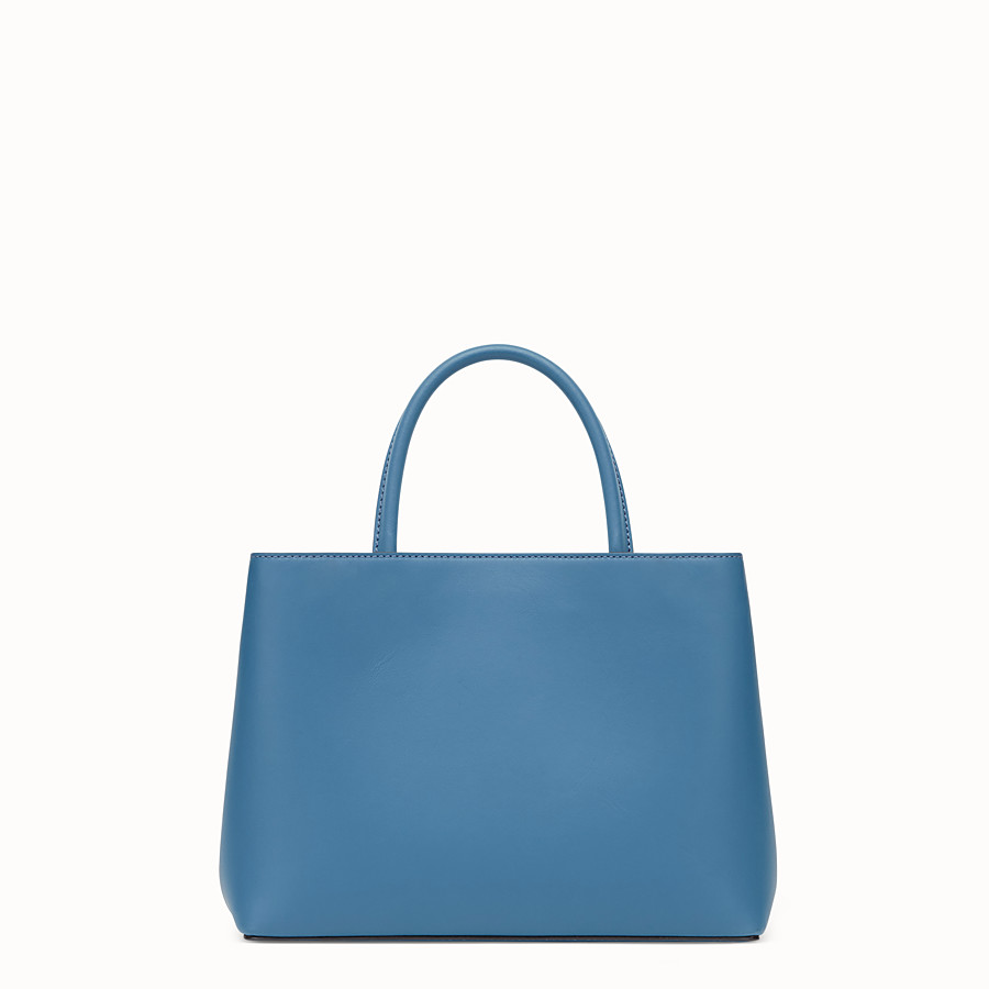 FENDI PETITE 2JOURS - Blue leather bag - view 3 detail