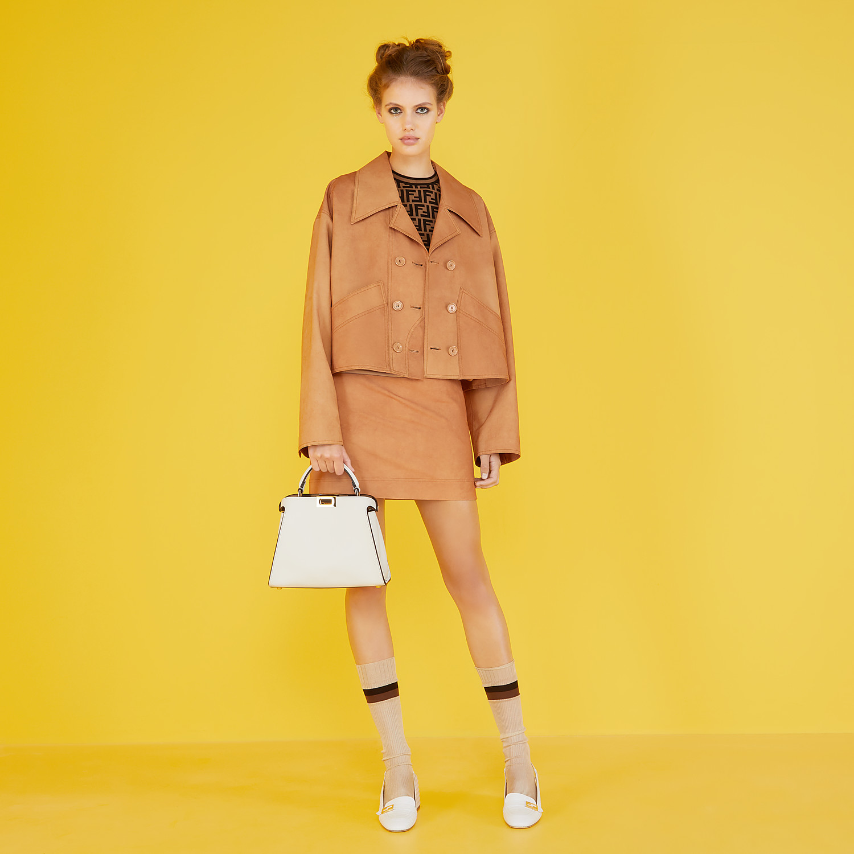 FENDI SKIRT - Brown cotton skirt - view 4 detail