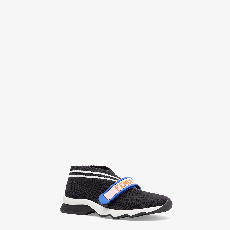 FENDI SNEAKERS - Black fabric sneakers - view 2 detail