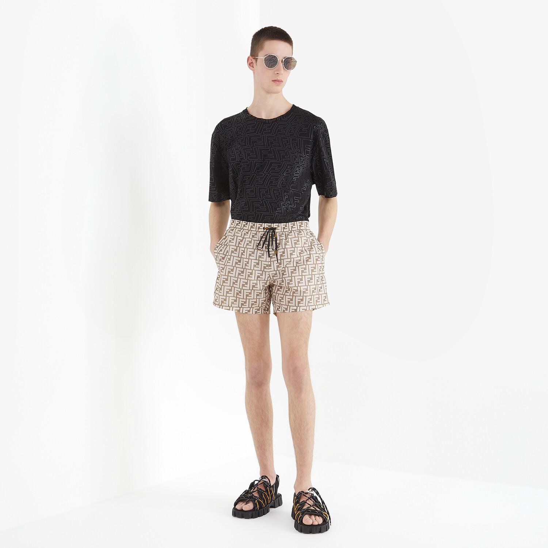 FENDI SWIM SHORTS - Beige Lycra® shorts - view 4 detail