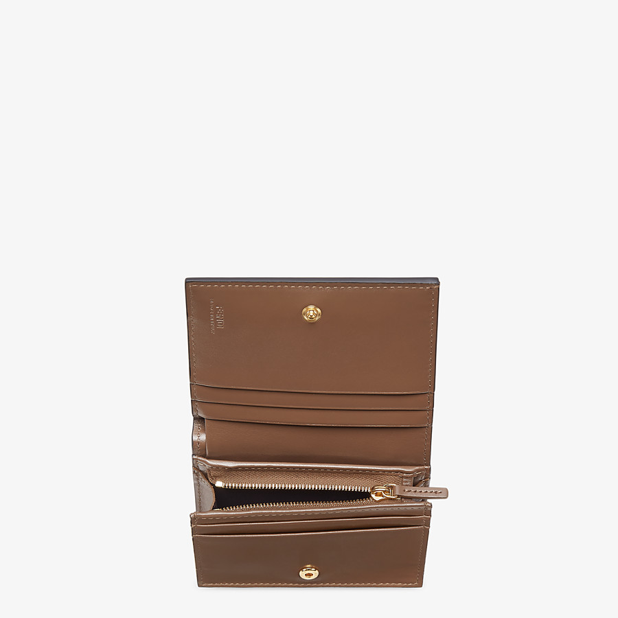 FENDI SMALL WALLET - Brown leather wallet - view 3 detail