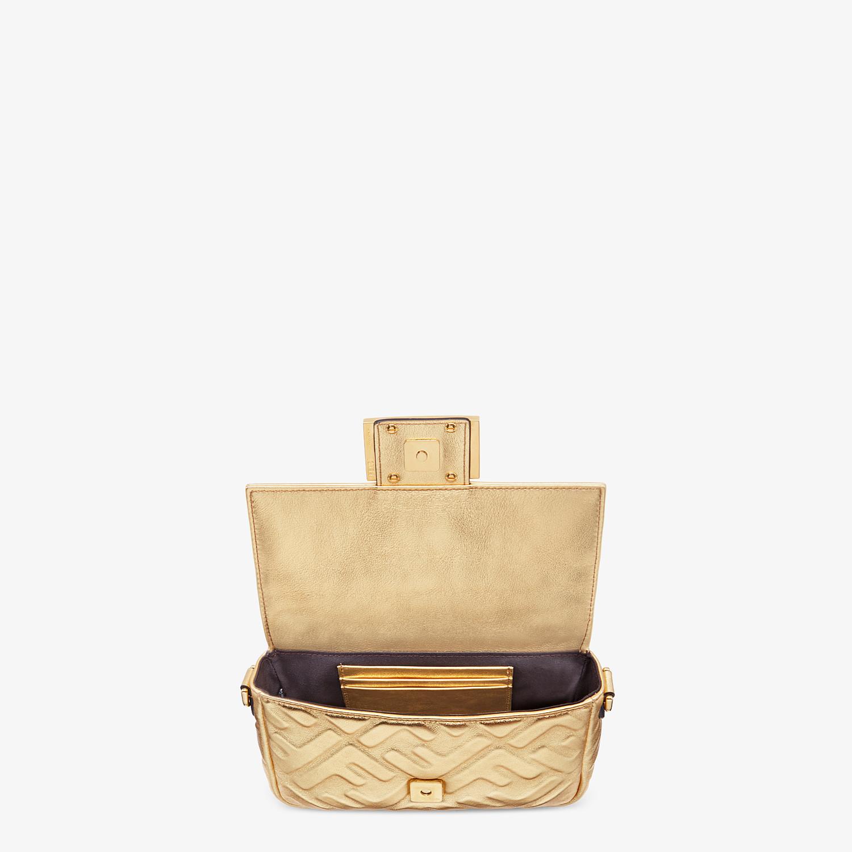 FENDI BAGUETTE MINI - Golden leather bag - view 4 detail