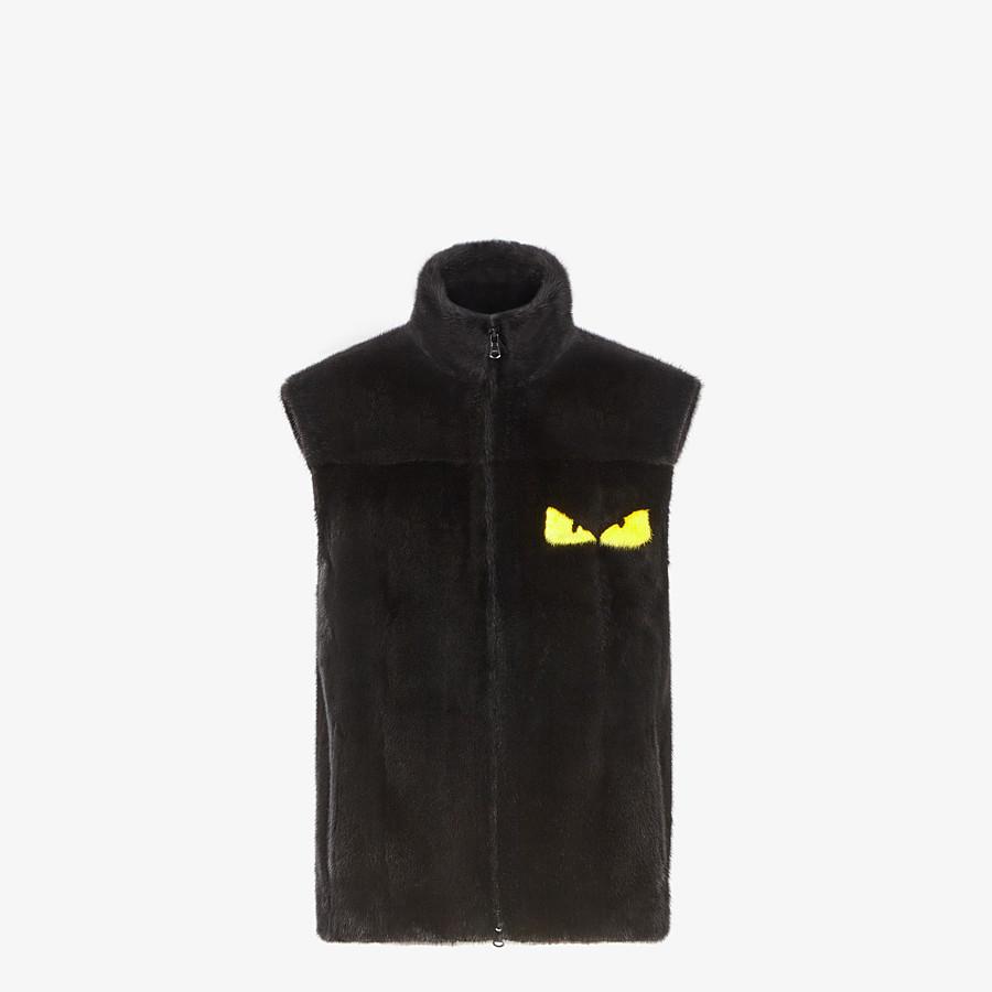 FENDI VEST - Black mink vest - view 1 detail