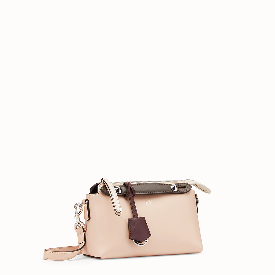 FENDI BY THE WAY MINI - Pink leather Boston bag - view 2 detail