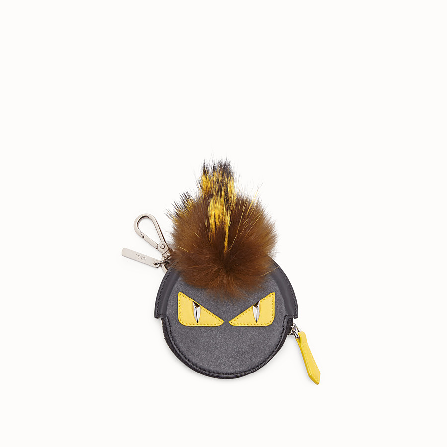 FENDI CHARM - Black leather charm - view 1 detail