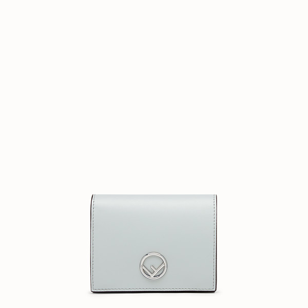 FENDI BIFOLD - Grey leather compact wallet - view 1 small thumbnail