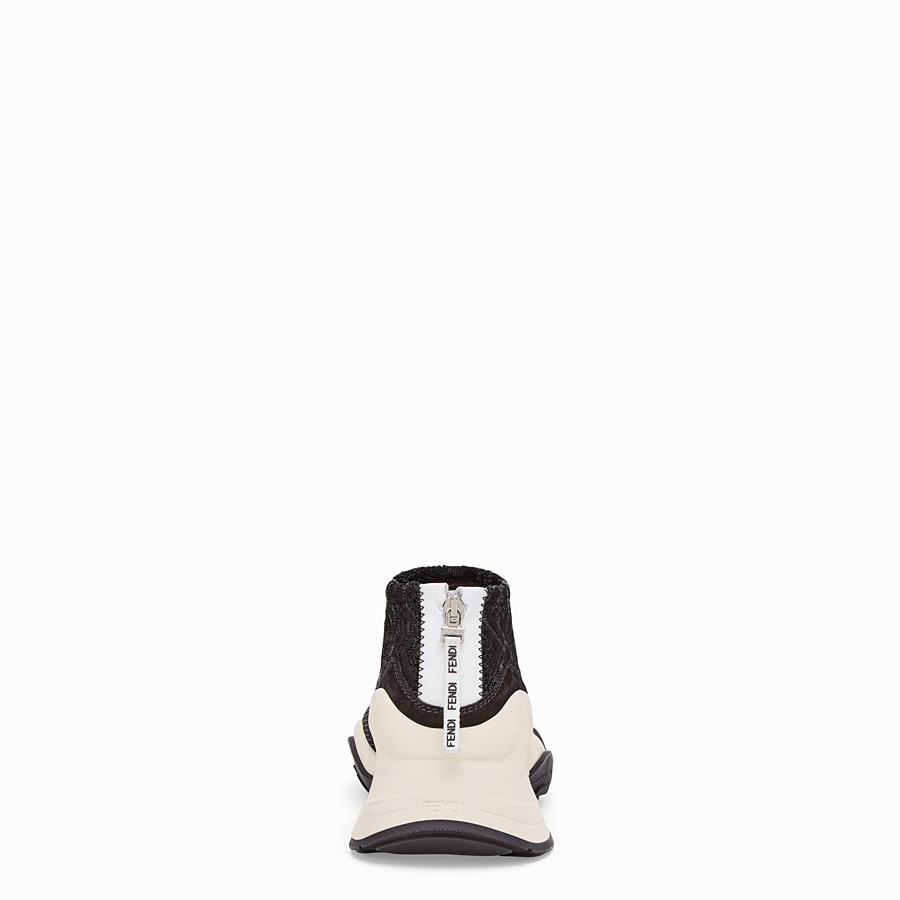 FENDI SNEAKERS - High-tech black jacquard sneakers - view 3 detail