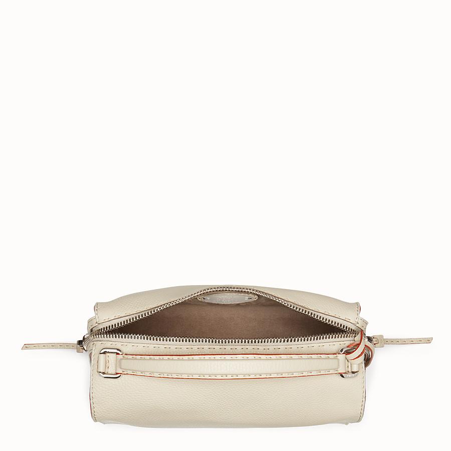 FENDI LEI SELLERIA BAG - white Roman leather Boston bag - view 4 detail
