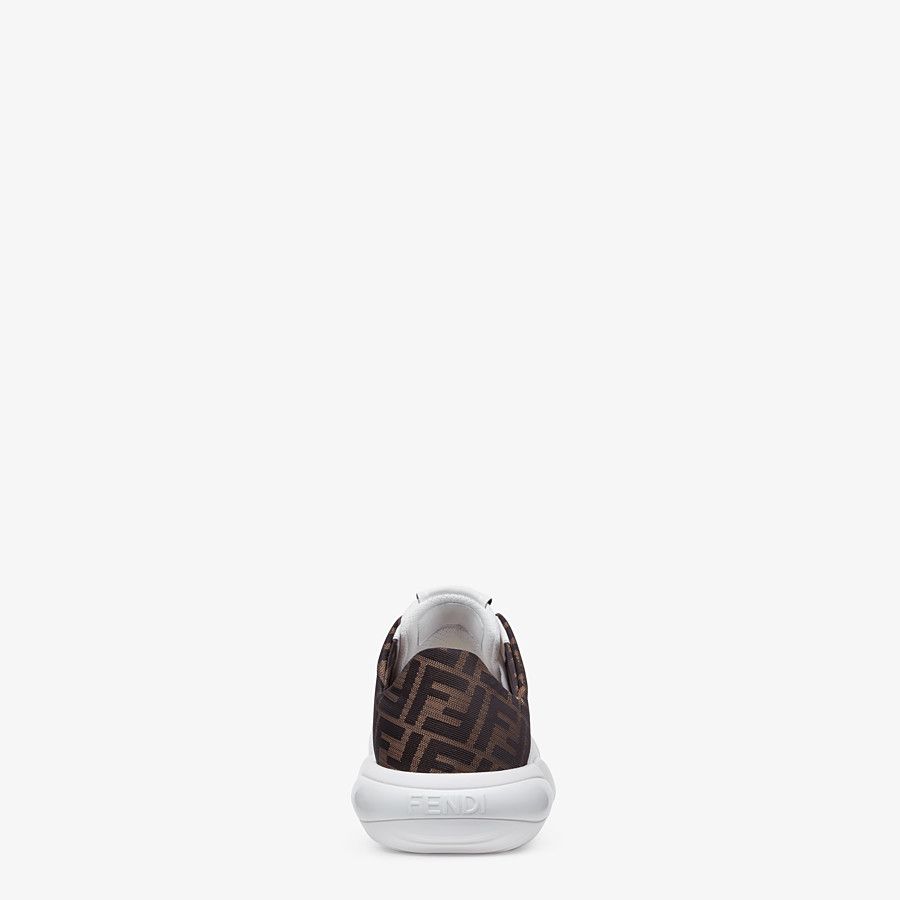 FENDI SNEAKERS - White tech mesh and leather low-tops - view 3 detail
