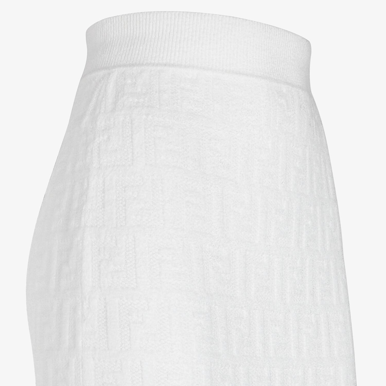 FENDI SKIRT - White velvet skirt - view 3 detail